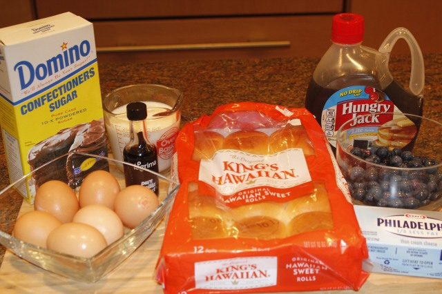 Blueberry french toast casserole ingredients