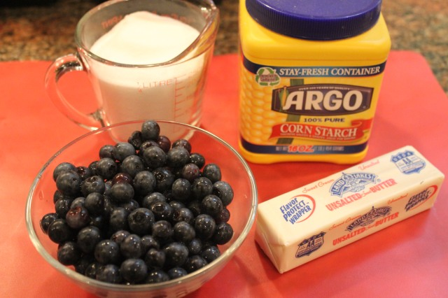 Blueberry syrup ingredients