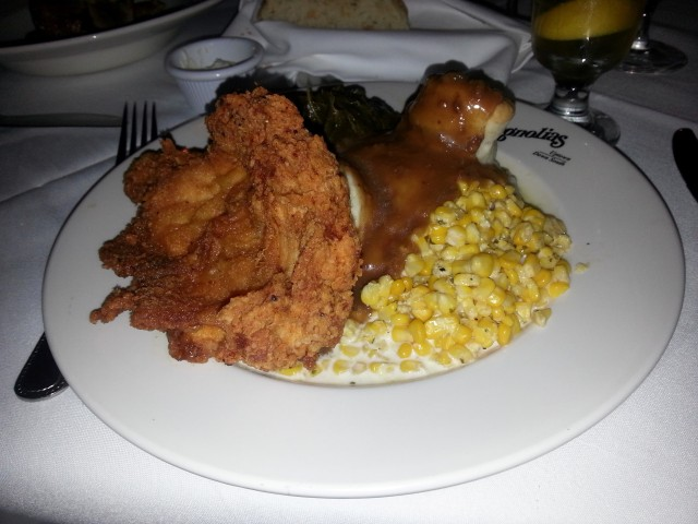Excellent fried chicken at Magnolias