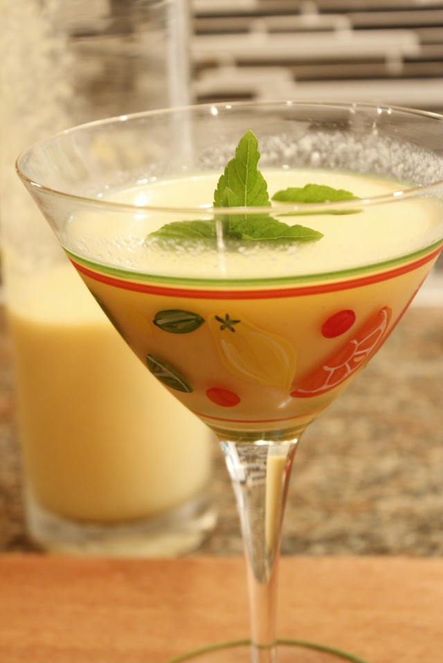 Kel's Cantaloupe and ginger cocktail