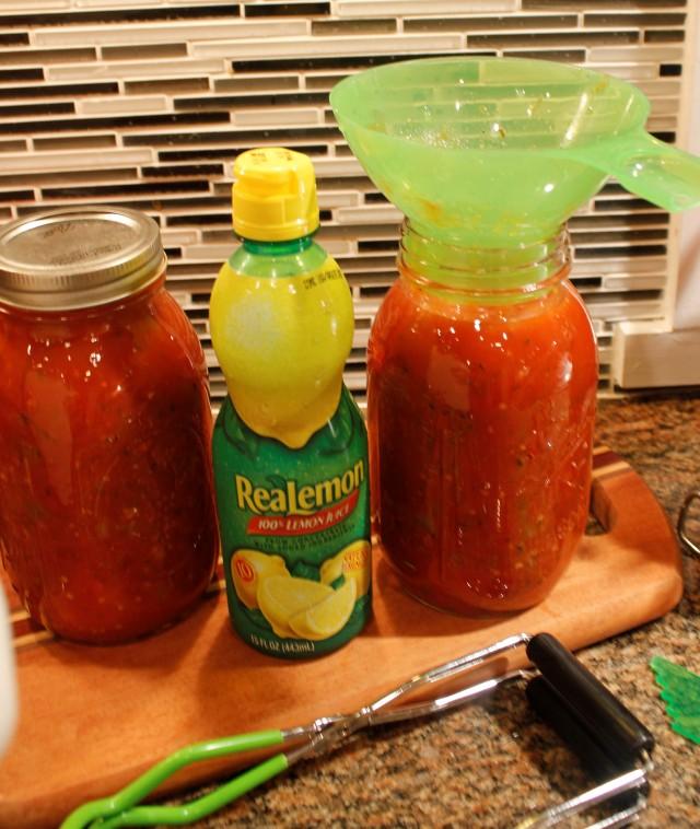 Add lemon juice to marinara sauce