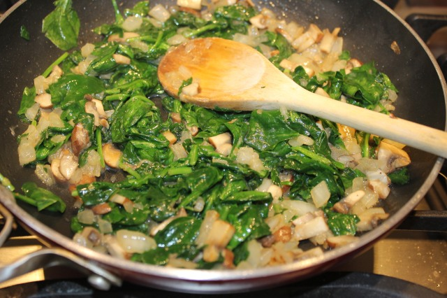 Cook down spinach
