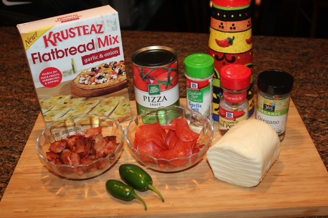 Flatbread pizza ingredients
