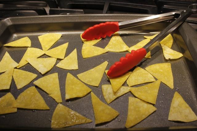 Flip over chips halfway through baking