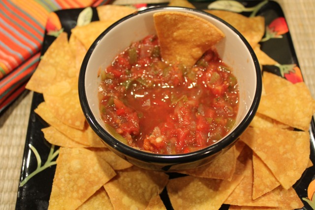 Kel's salsa and chips