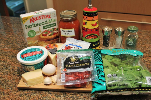Kel's Crazy Good Calzone ingredients