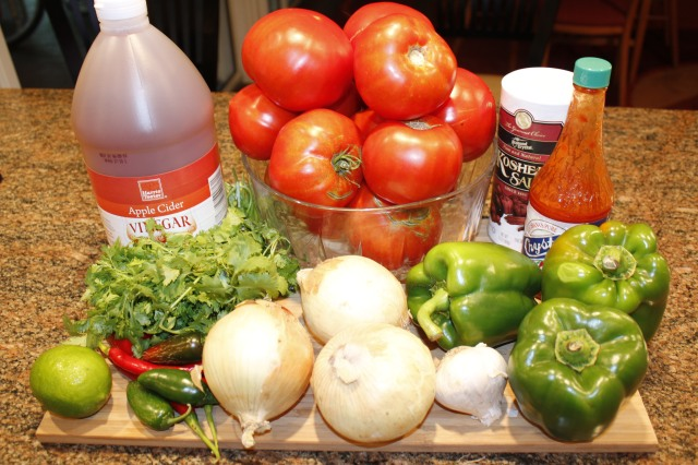 Kel's spicy salsa ingredients