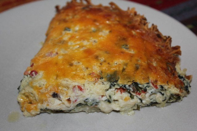 Kel's Spinach Mushroom Ricotta Pie