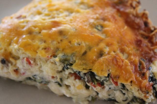Mouthwatering Spinach Mushroom Ricotta Pie
