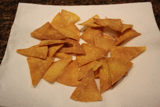 Place chips on paper towel