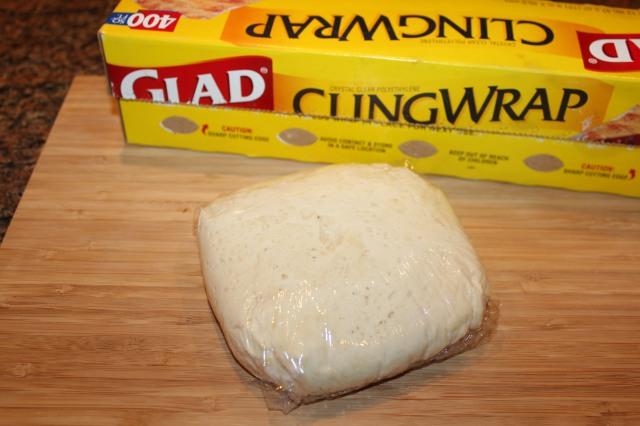 Wrap dough in plastic wrap