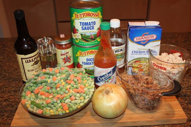 Kel's Brunswick Stew ingredients