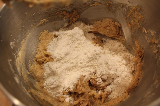 Add flour in small batches