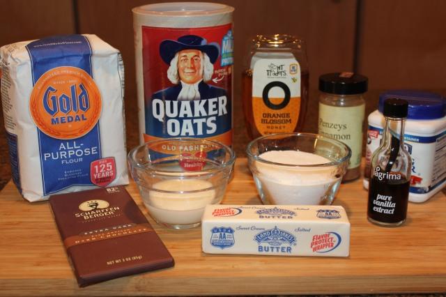 Dark chocolate oatmeal lace cookies ingredients