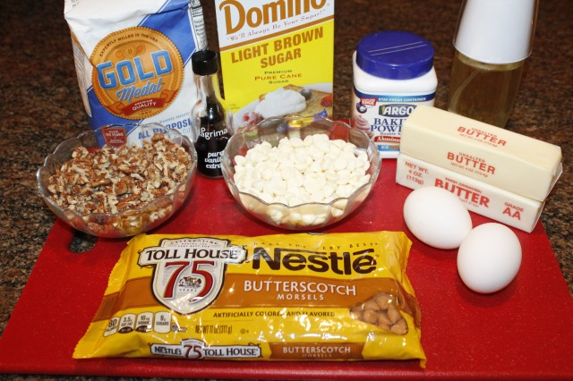 Kel's Blondie ingredients
