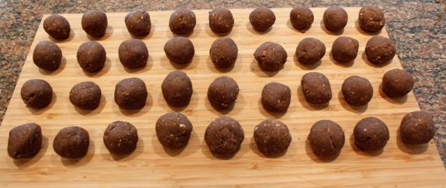 Naked bourbon balls