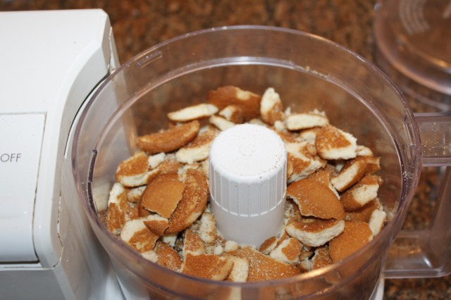 Place wafers in food processor