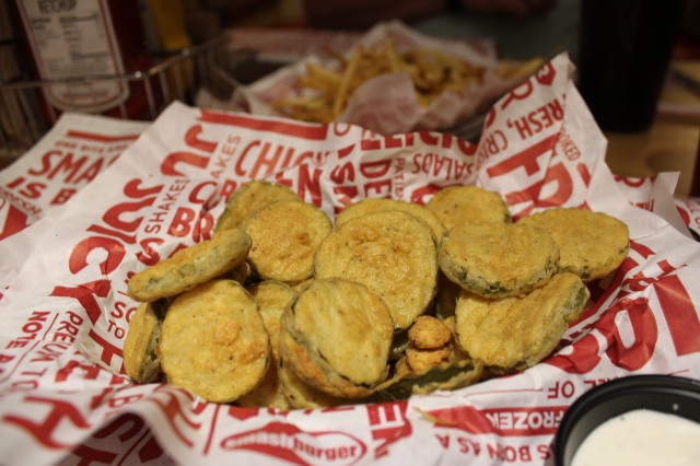 Smashburger's fried pickles