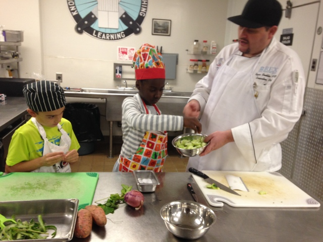Chef Ryan with kids