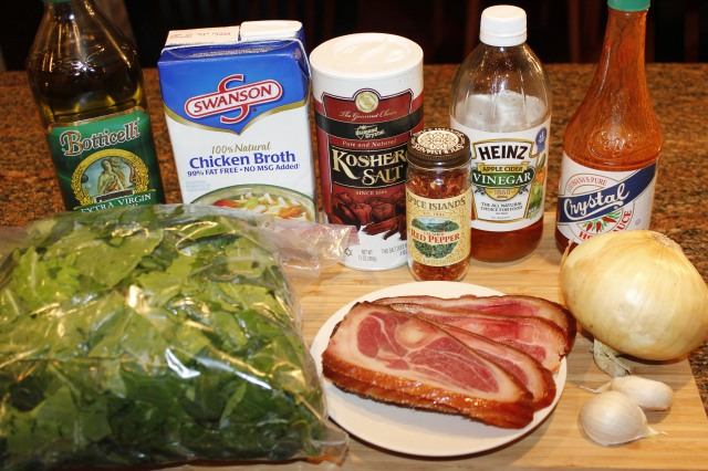Kel's Collards ingredients