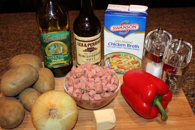 Kel's Cafe Roast beef hash ingredients