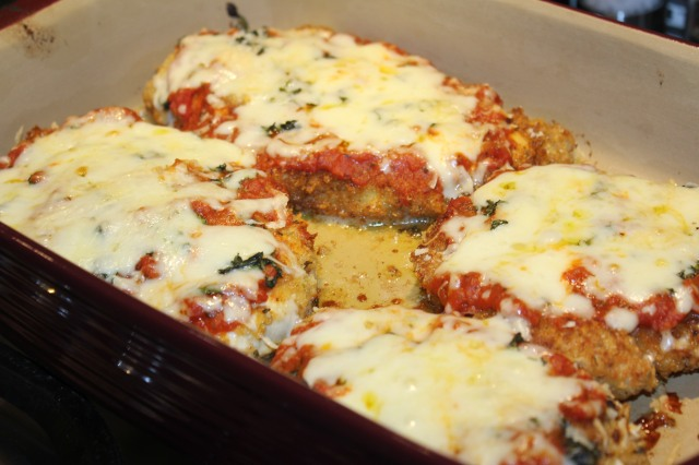 Kel's chicken parm out of the oven
