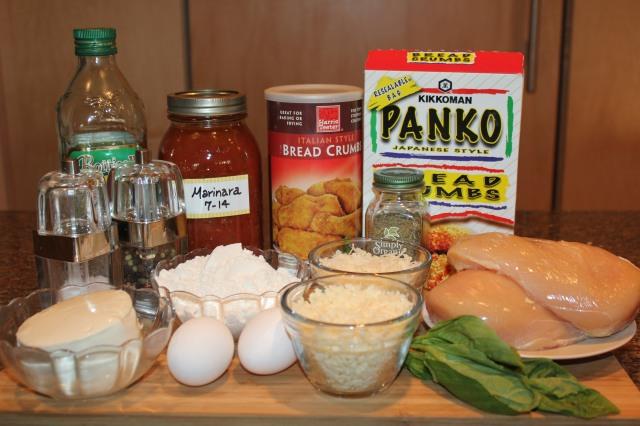 Kel's Chicken Parmesan ingredients