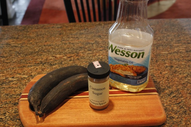 Kel's sweet fried plantain ingredients