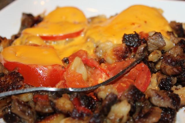 Roast beef hash comfort food
