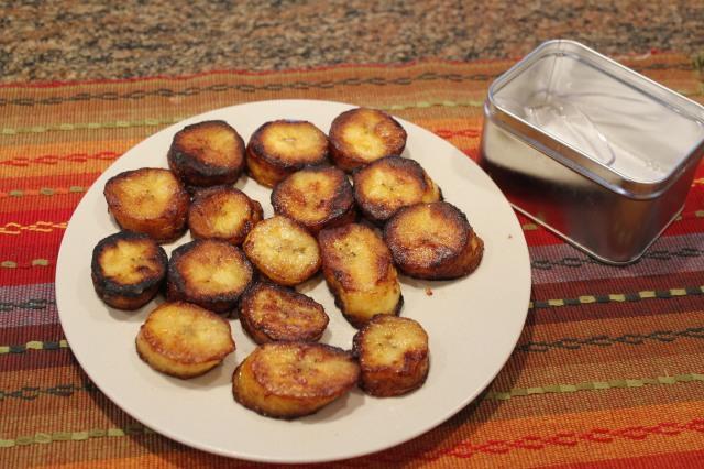 Sprinkle plantains with sea salt