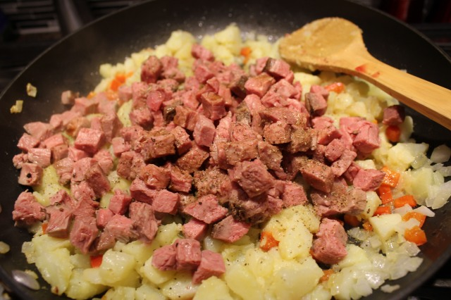 Stir in roast beef