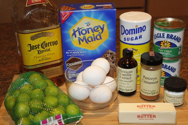 Kel's Tequila Key Lime Pie ingredients