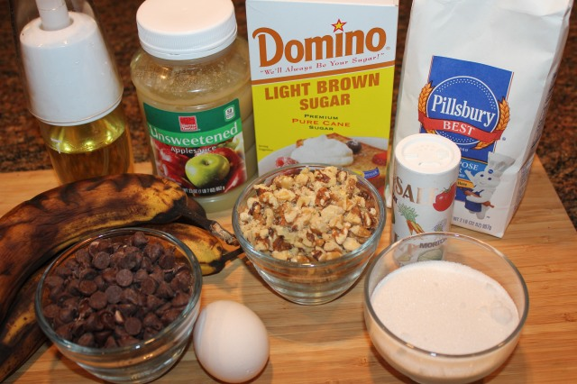 Kel's nutty chocolate chip banana square ingredients
