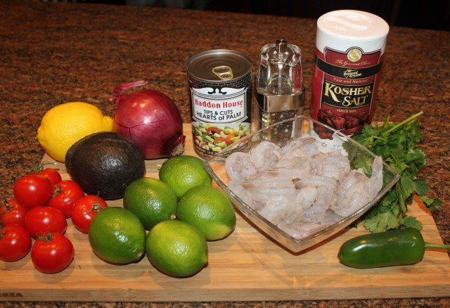 Kel's Cafe shrimp ceviche ingredients
