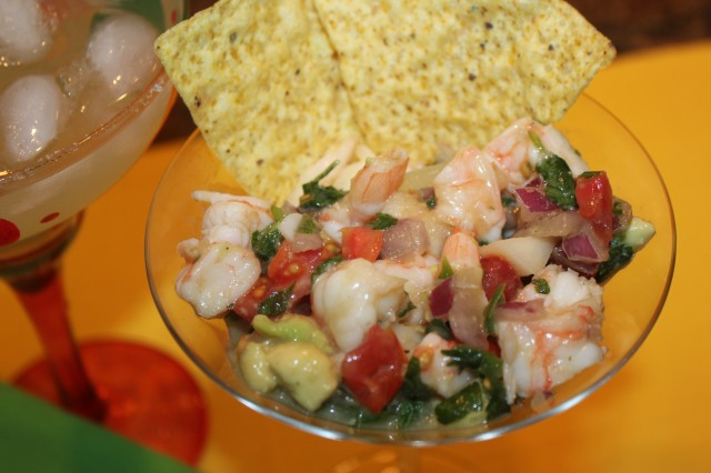 Yummy shrimp ceviche