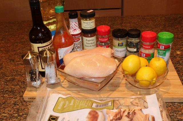 Aunt Ruth's Hickory lemon chicken ingredients