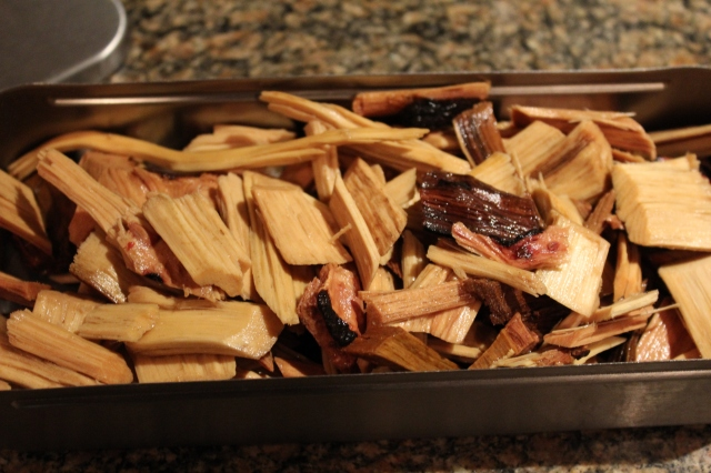 Hickory chips are ready