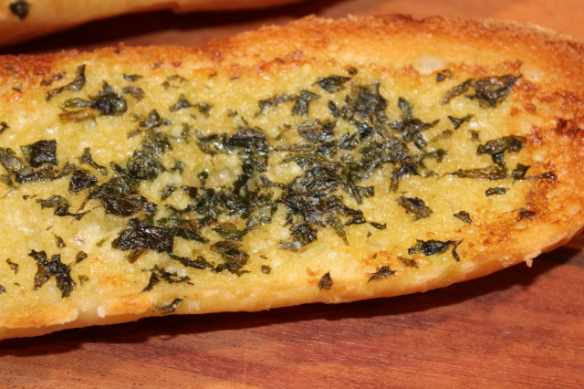 Garlic bread with Kel's herbed butter
