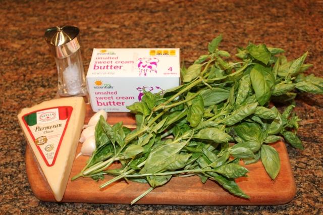 Kel's Basil Garlic Butter ingredients