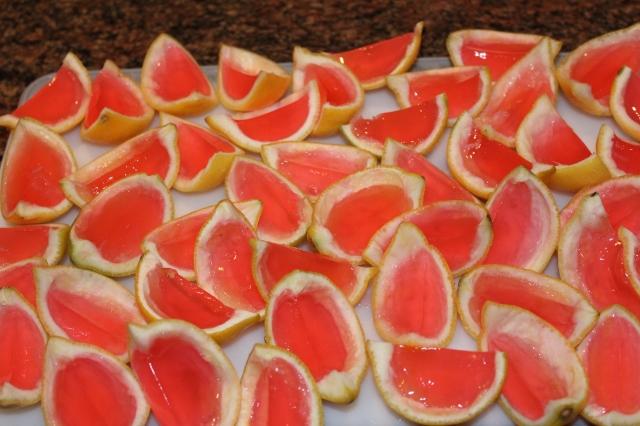 Slice lemons in half once chilled