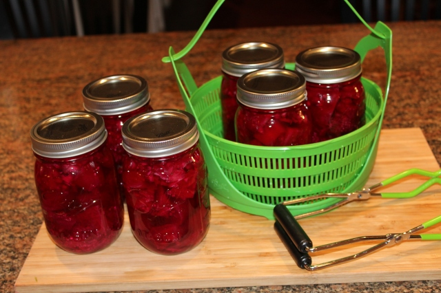 Beets ready to be canned