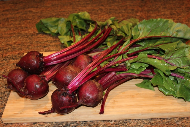 Beets with stems