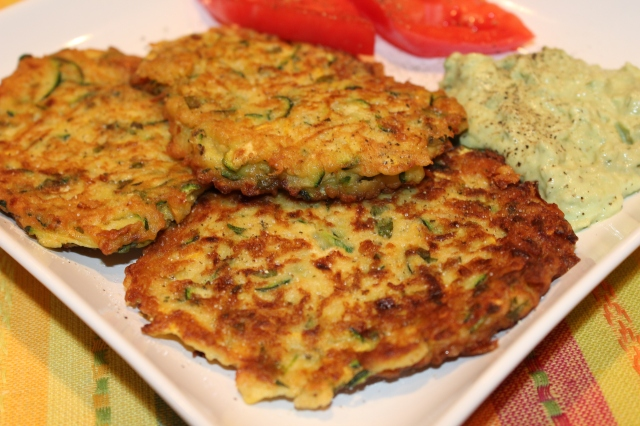 Kel's zucchini and squash fritter