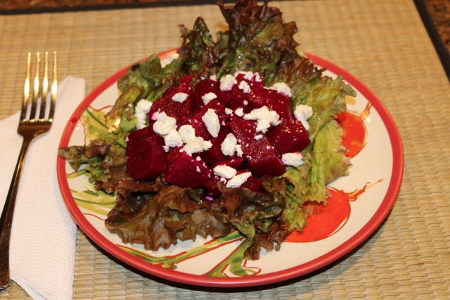 Let's eat Kel's pickled beet salad!