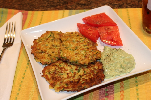 Let's eat zucchini fritters!