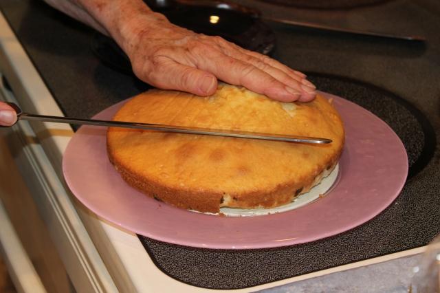 Level off cake if needed