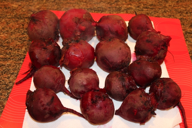 Place beets on paper towels