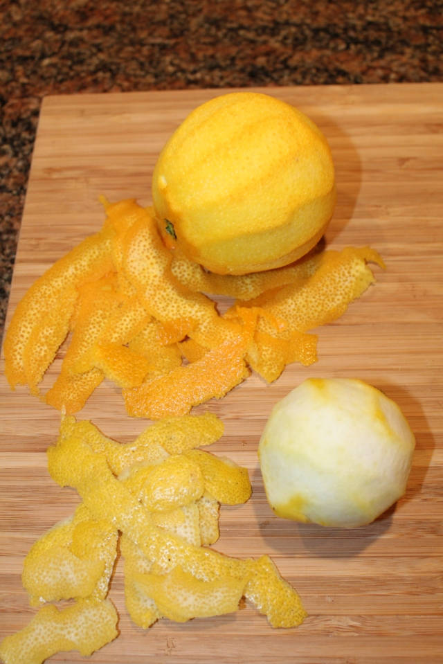 Orange and lemon peels