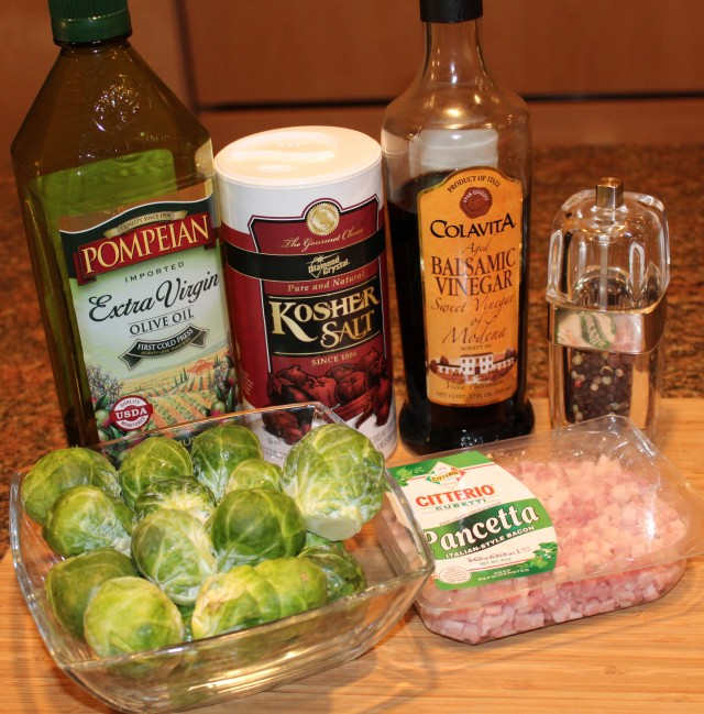 Kel's Brussel Sprouts ingredients