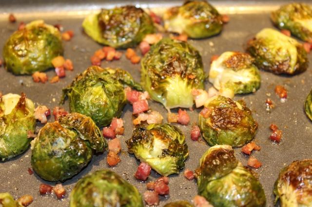 Roasted Brussel Sprouts, up close